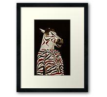 Miss Zebra Dressed In Her Best!  Framed Print