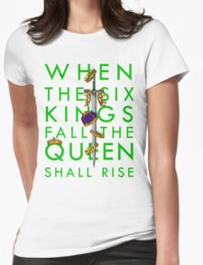 Queen Rises 3/5 Womens Fitted T-Shirt