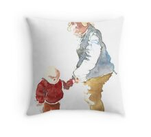 Grandmother with child Throw Pillow