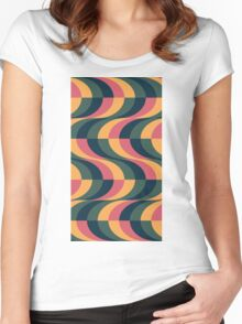 Psychedelic Wave Women's Fitted Scoop T-Shirt