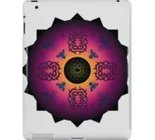 pointy symmetry and bugs - papercut patterns iPad Case/Skin