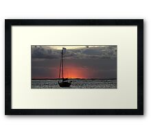 On the water. Framed Print