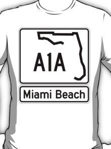 A1A - Miami Beach  T-Shirt