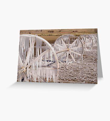 Frozen Wheels Greeting Card