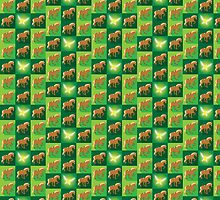 Abstract Epona on a field of green by jazzydevil