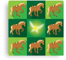 Abstract Epona on a field of green Canvas Print