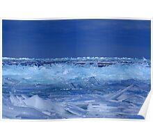 "Broken ""Ice"" Glass Landscape Poster"