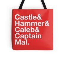 NATHAN FILLION and His Many Characters  Tote Bag
