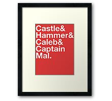NATHAN FILLION and His Many Characters  Framed Print