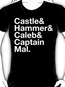 NATHAN FILLION and His Many Characters  T-Shirt