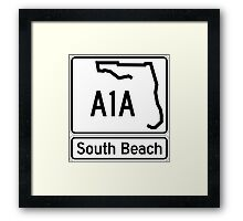 A1A - South Beach Framed Print