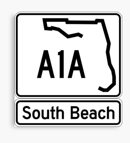 A1A - South Beach Canvas Print