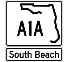 A1A - South Beach Photographic Print