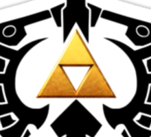 Zelda Link Triforce Sticker