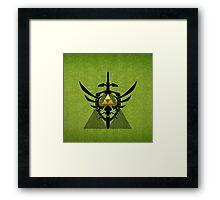 Zelda Link Triforce Framed Print
