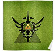 Zelda Link Triforce Poster