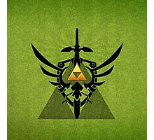 Zelda Link Triforce Photographic Print