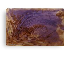 Brown Earth Purple Sea Canvas Print