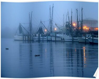 Harbor at Dawn by Charlie Sawyer