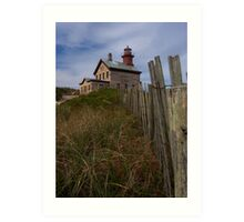 North Lighthouse Block Island Art Print