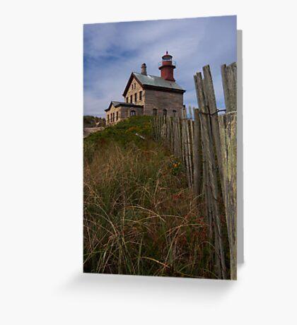 North Lighthouse Block Island Greeting Card