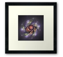 'Light Flame Abstract 235a' Framed Print
