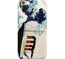 The Great Wave and The Great Ship iPhone Case/Skin