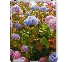 Riot of Hydrangea Blossoms - Pink, Blue and Purple iPad Case/Skin