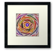 'Light Flame Abstract 258wht' Framed Print