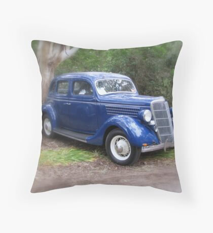 Casey's Blue Ford Throw Pillow