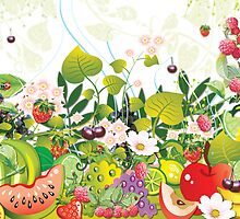 Garden of Fruit by Lesley Smitheringale