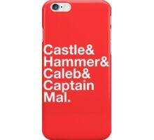 NATHAN FILLION and His Many Characters  iPhone Case/Skin