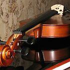 Violin Scroll, Bridge and Tuning Pegs by SunriseRose