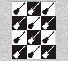 Electric Guitar Checkerboard Kids Clothes