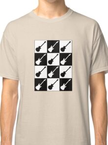 Electric Guitar Checkerboard Classic T-Shirt