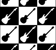 Electric Guitar Checkerboard by Roz Abellera Art Gallery