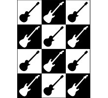 Electric Guitar Checkerboard Photographic Print