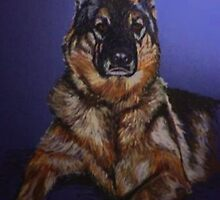 Nala~Portrait Of A German Shepard by Susan Bergstrom