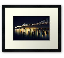 SF Bay Bridge Illuminated Framed Print