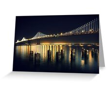 San Francisco Bay Bridge Illuminated Greeting Card