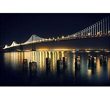 San Francisco Bay Bridge Illuminated Photographic Print