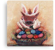 Easter Hog Canvas Print