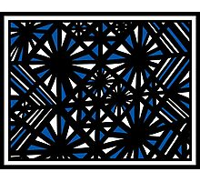 Upchurch Abstract Expression Blue White Black Photographic Print