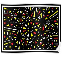Bayona Abstract Expression Yellow Red Poster