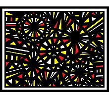Bayona Abstract Expression Yellow Red Photographic Print