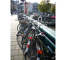 Amsterdam Bikes Photographic Print