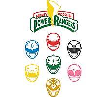 Mighty Morphin Power Rangers Photographic Print