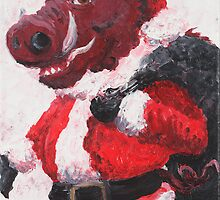 Razorback Santa by Nadine Rippelmeyer