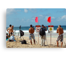 Surf contest photography Canvas Print