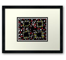 Shrum Abstract Expression Yellow Red Framed Print